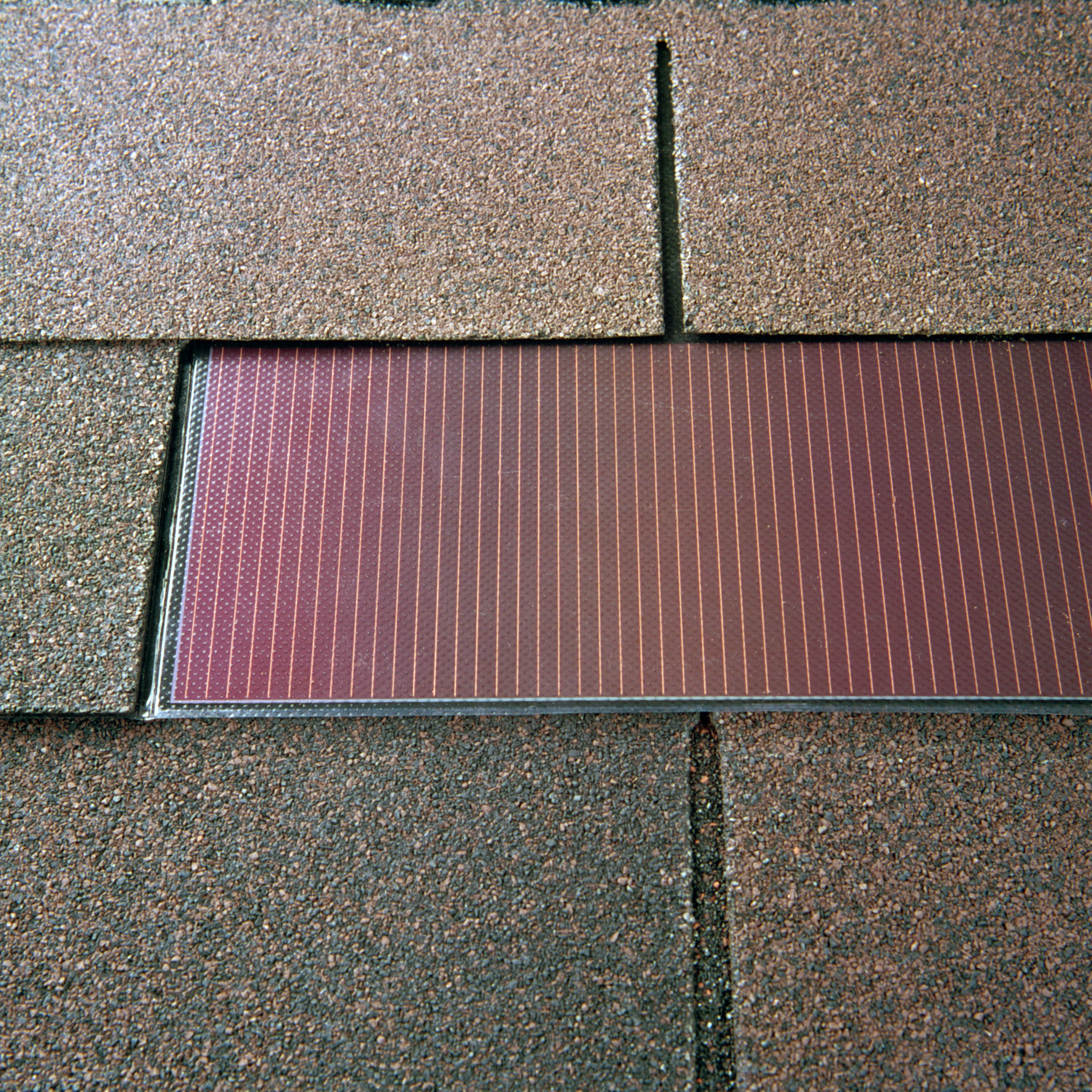 Light, Flexible PV Roofing Shingles For Direct Building Integrated Mounting  Can