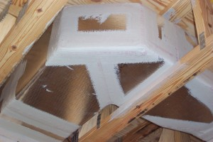 Figure 2. Mastic-sealed insulated ductwork located inside of an insulated plenum. (Credit: PREC)