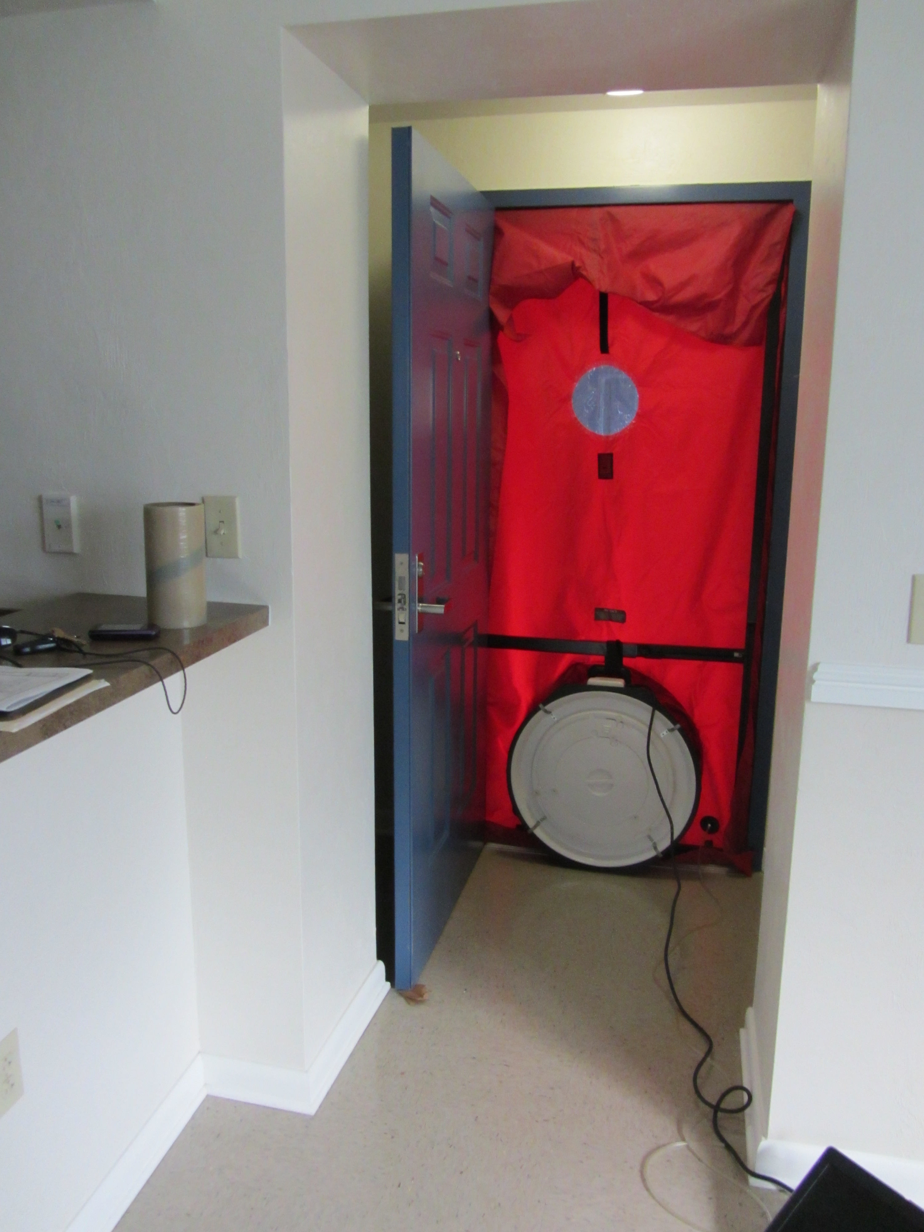 test home a photo door liam his camillus install during ny syracuse in insulation blower explaining contractor finding