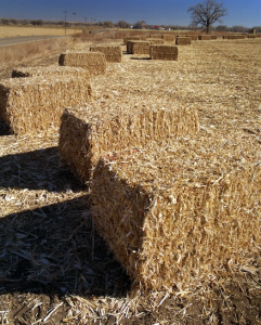 Figure 3. Bales of corn stover - residuals after corn harvest can be used to make cellulosic ethanol. Credit: Warren Gretz / NREL