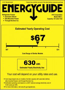 Figure 3. Sample EnergyGuide label. Credit: Federal Trade Commission. [Click image for full size version.]