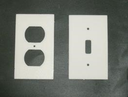 Figure 4. Foam Gaskets to seal air flow through outlets and switches. [Click image for full size version.] Credit: GRU