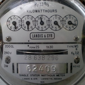 Figure 1: Residential analog electric meter. Credit GRU.