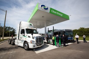 Figure 5. A CNG station at the Orlando International Airport opened in March 2015. Credit: Clean Energy Fuels Corp.