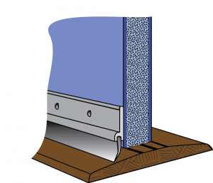 Figure 3. Door Threshold and Sweep. [Click image for full size version.] Credit: UF PREC