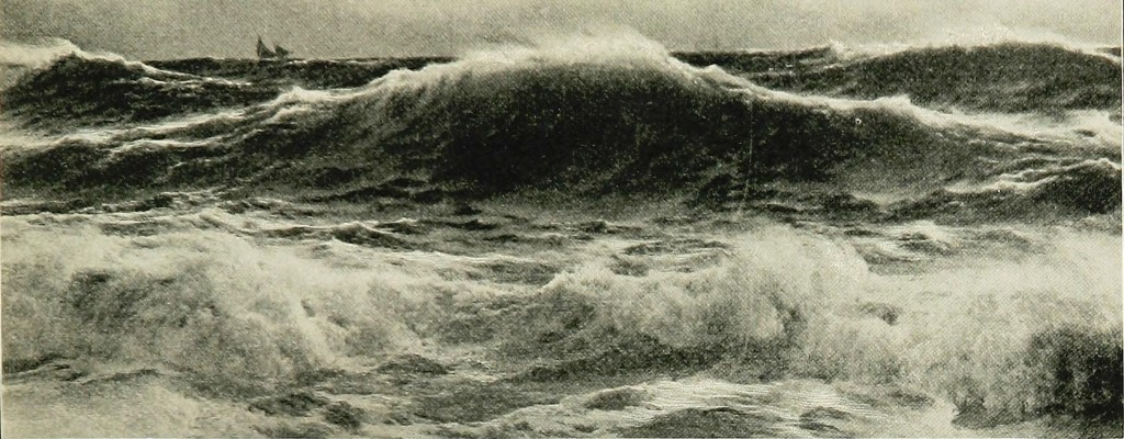 "Figure 1. ""The Great Storm Waves on the Open Ocean"": Photo circa 1910. [Click image for full size version.] (Credit: Flickr)"