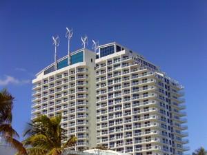 Figure 10. Wind Turbines Atop the Hilton