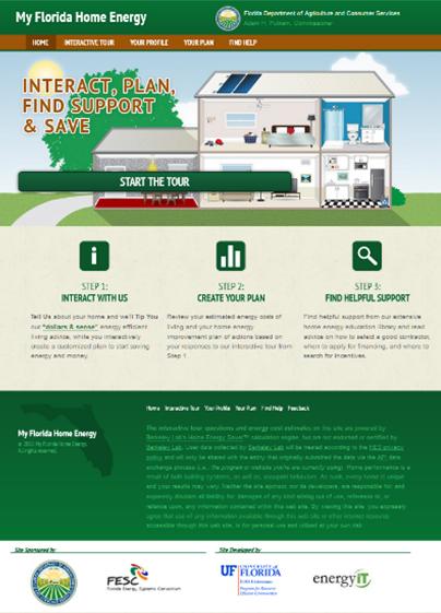 Figure 4: My Florida Home Energy online energy audit tool. Credit: PREC.