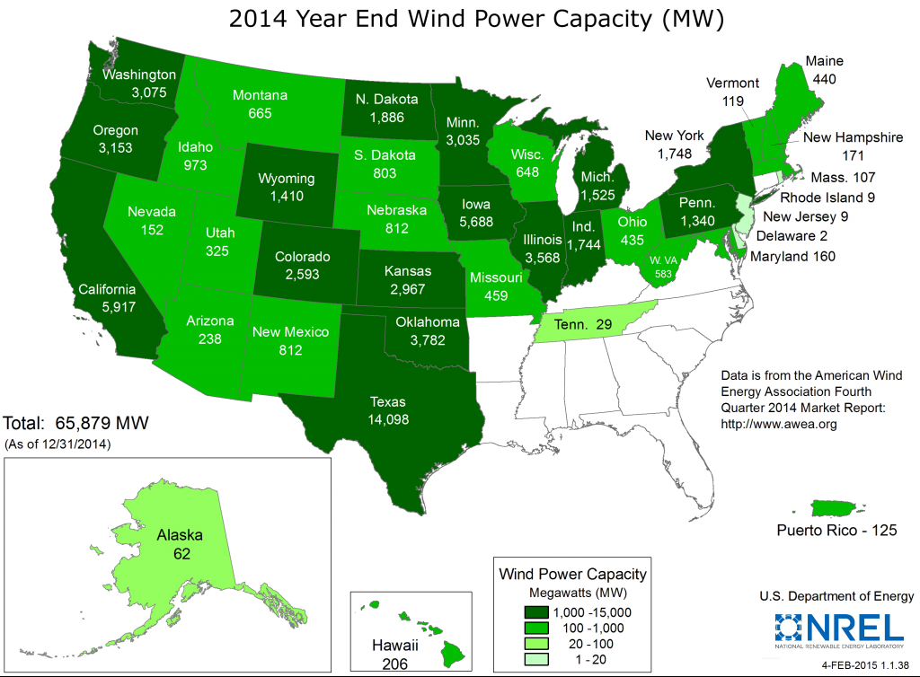 Figure 4. Current Installed Wind Power Capacity